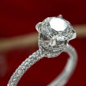 2.64 Carat Diamonds 18k White Gold Engagement Ring